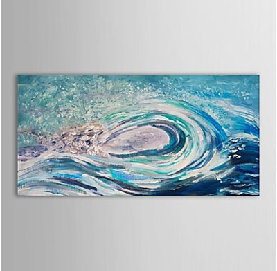 Wave Abstract Oil Painting Wall Art with Stretched Frame Ready to Hang (WW092)
